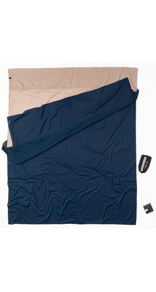Cocoon TravelSheet Sovepose Doublesize Egyptian Cotton beige/blå
